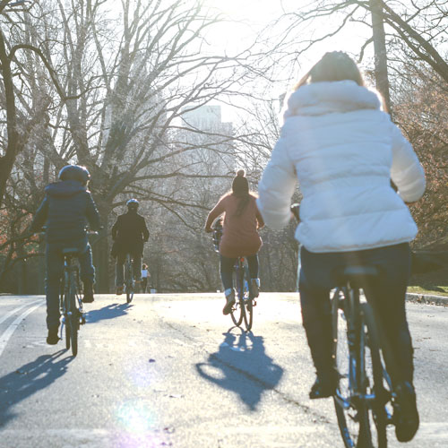 Bicycle riders in Central Park